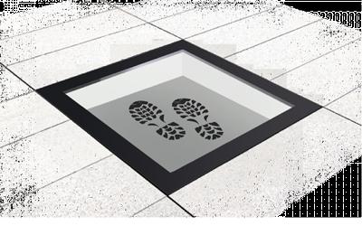 Begebares Bodenglas für Terassen und Flachdächer
