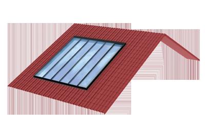 Panoramafenster für Dachneigungen von 15° bis 90°