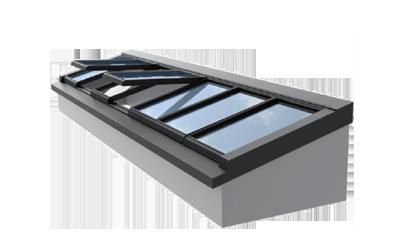 Pultdach und Wandpultdach - Glasdach-System für Flachdächer