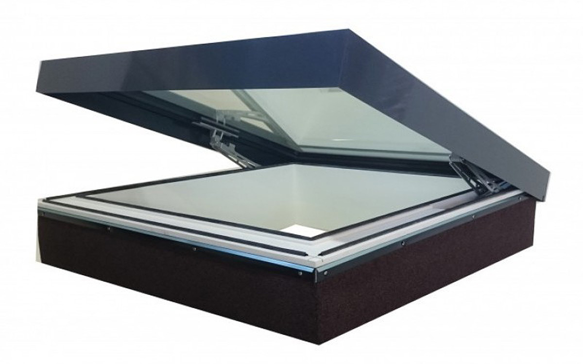 SkyVision COMFORT – Lüftungs-Oberlicht für Dachneigungen von 0 bis 30°