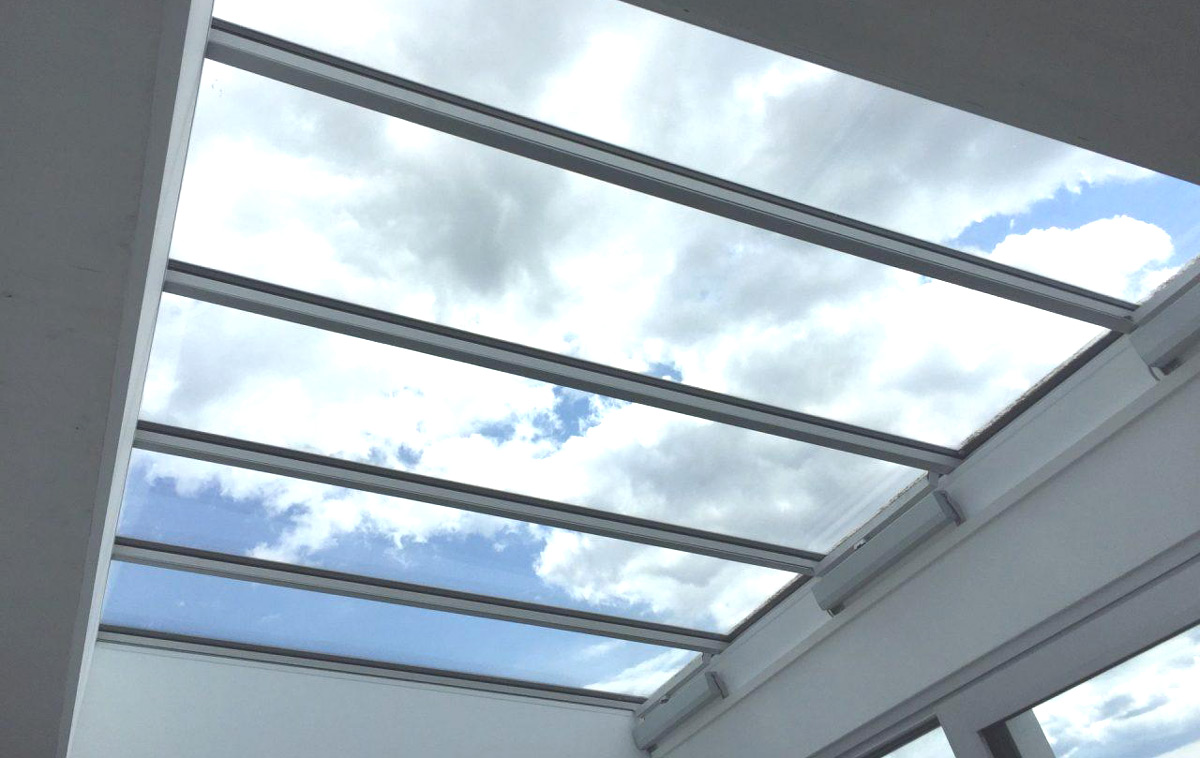 Lichtband Dachverglasung - Sicht von Innen