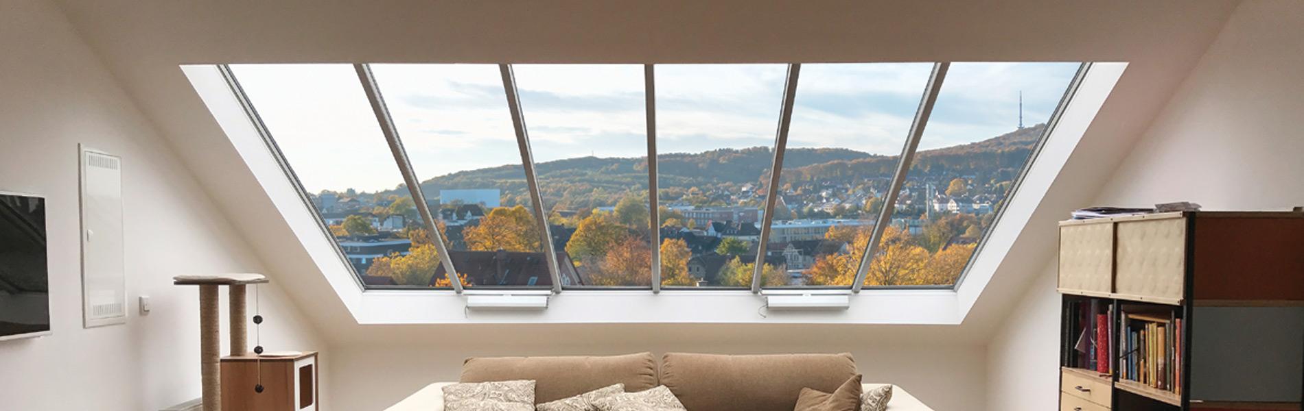 Panoramafenster - bis zu 3 m² je Glaseinheit sind möglich