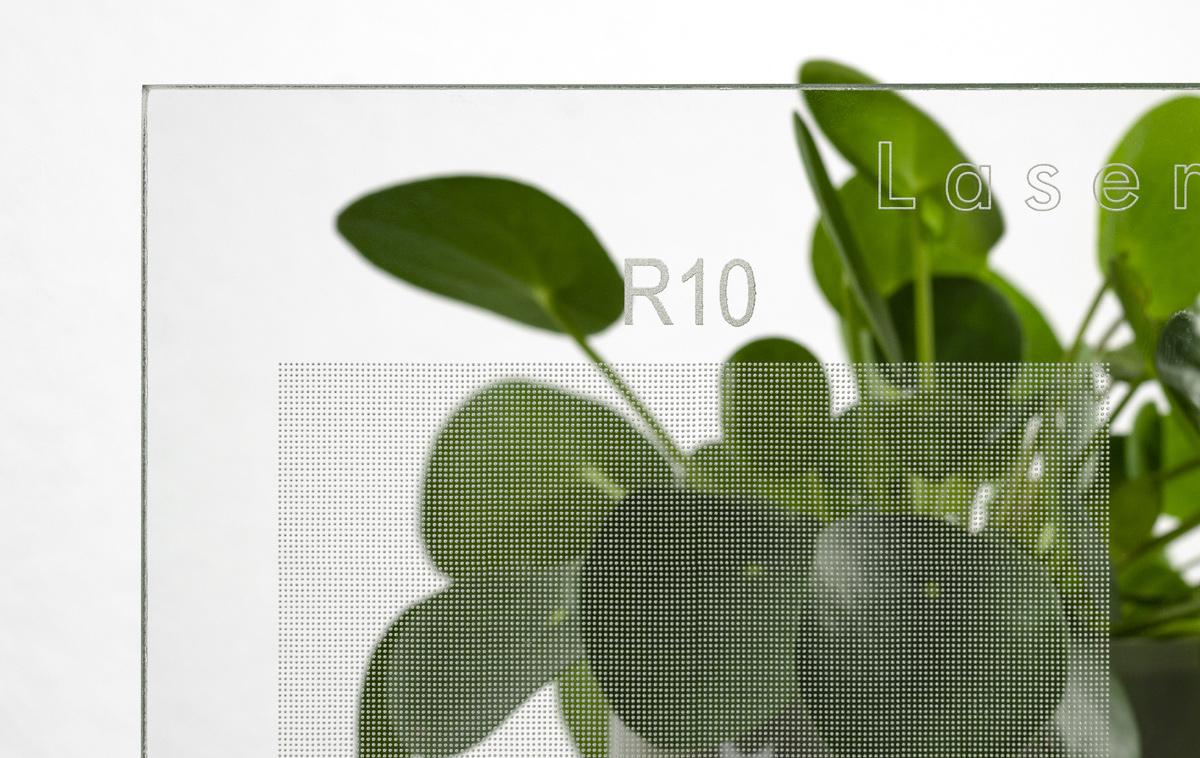 Glas Lasergrip mit Rutschhemmung R10