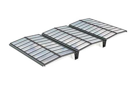 VMS Lösung mit Atrium-Sattel-Lichtband 5° mit Träger