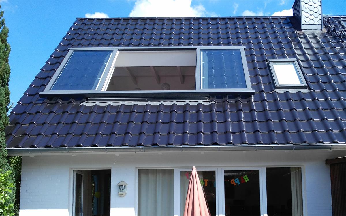Dachschiebefenster geöffnet