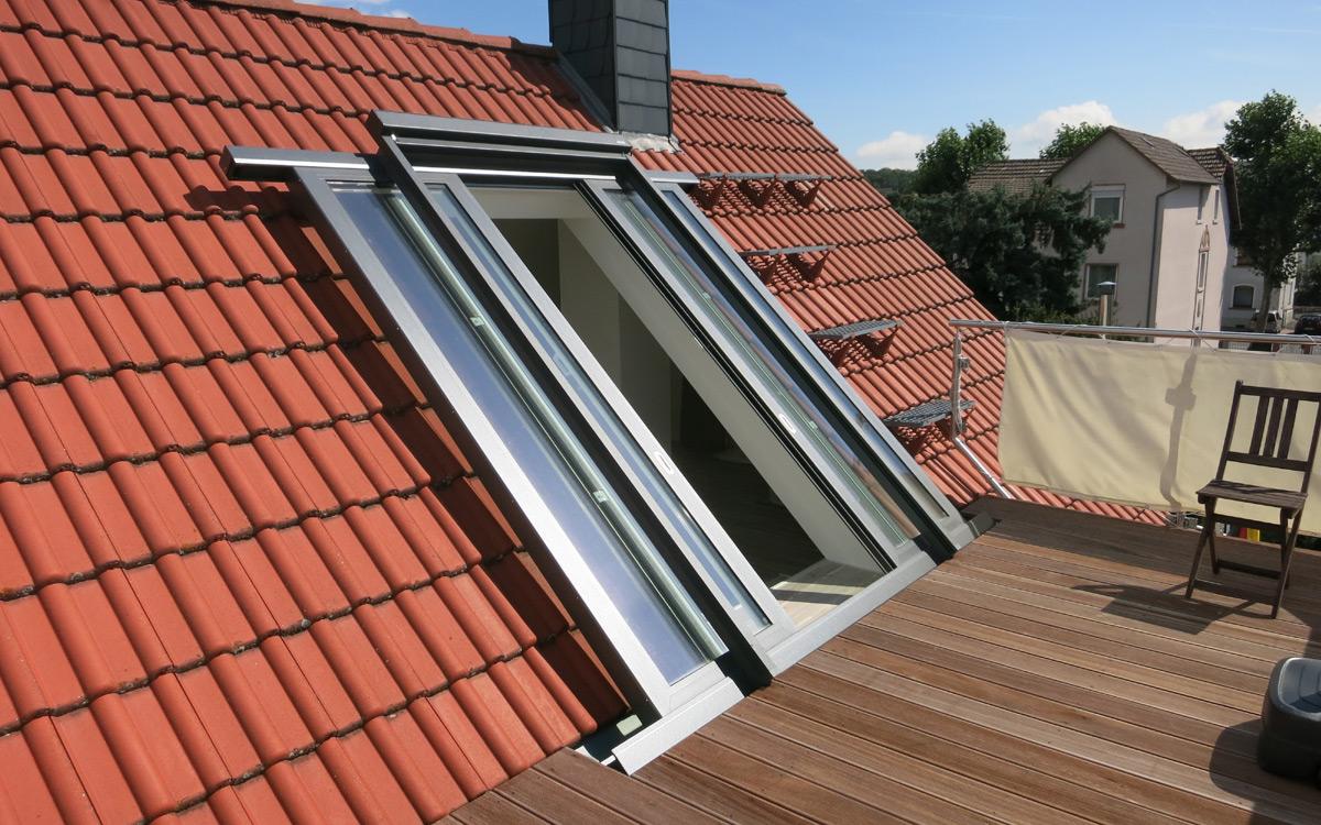 Dachschiebefenster und Balkonausstieg