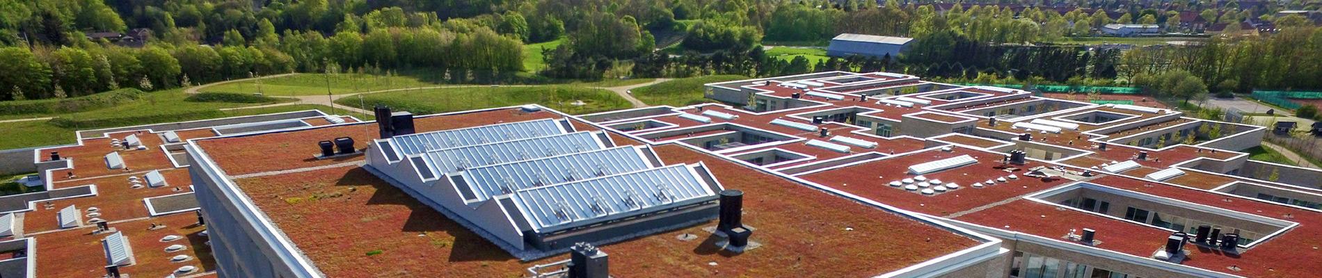 Tageslichtsysteme für Flachdächer mit einer Neigung von 0° bis 30°
