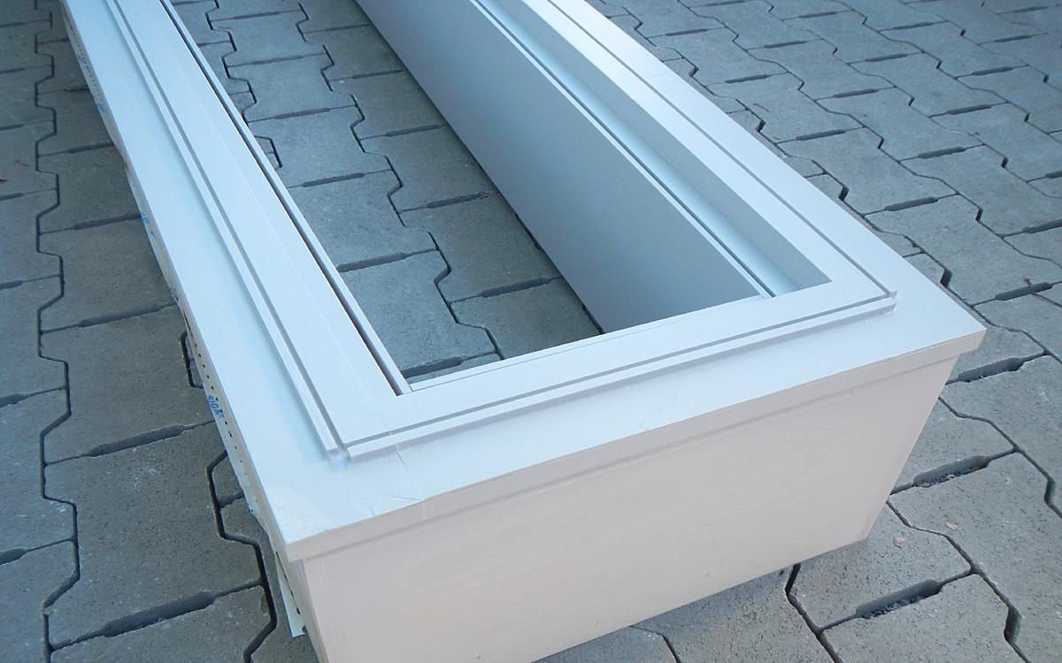 Holz-Unterkonstruktion (ohne Dichtung) für mehrere Glasmodule