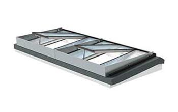 VMS Rauchabzugsmodul mit Windableitwand für drei Module