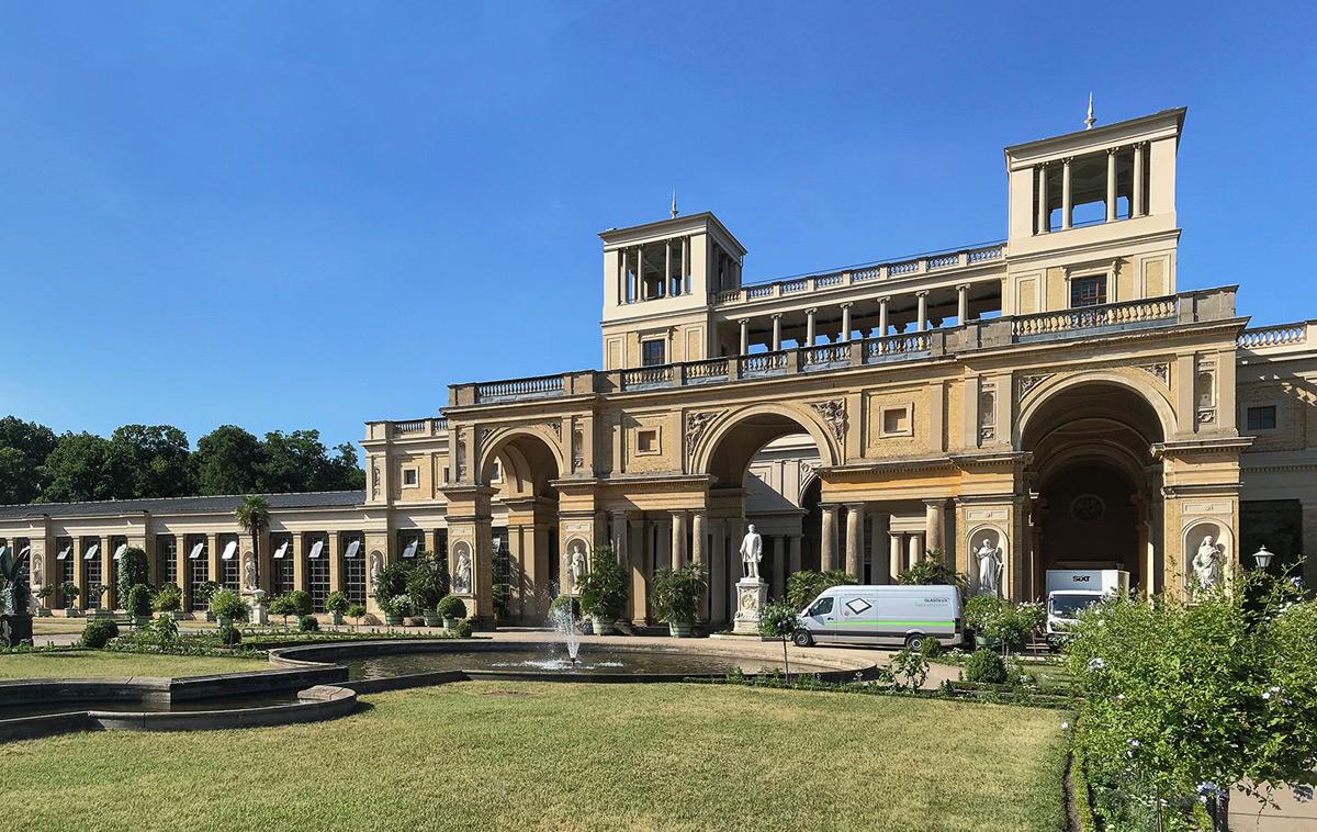Bauhvorhaben Orangerie Sanssouci