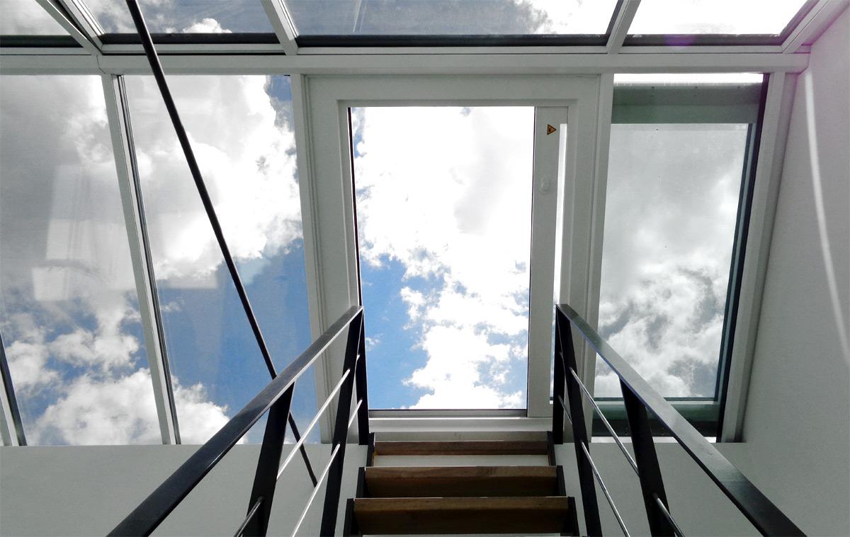 Dachschiebefenster als Ausstieg im Satteldach
