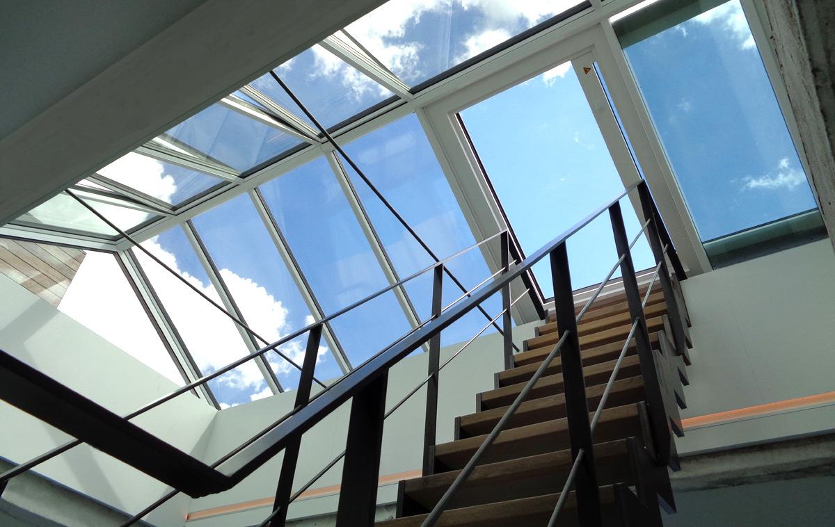 Satteldach mit Dachausstiegsfenster