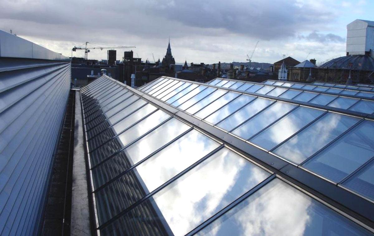 Atrium auf dem Dach einer Universität