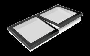 Flachdach-Kombi-Oberlicht: Festverglast und zum Öffnen