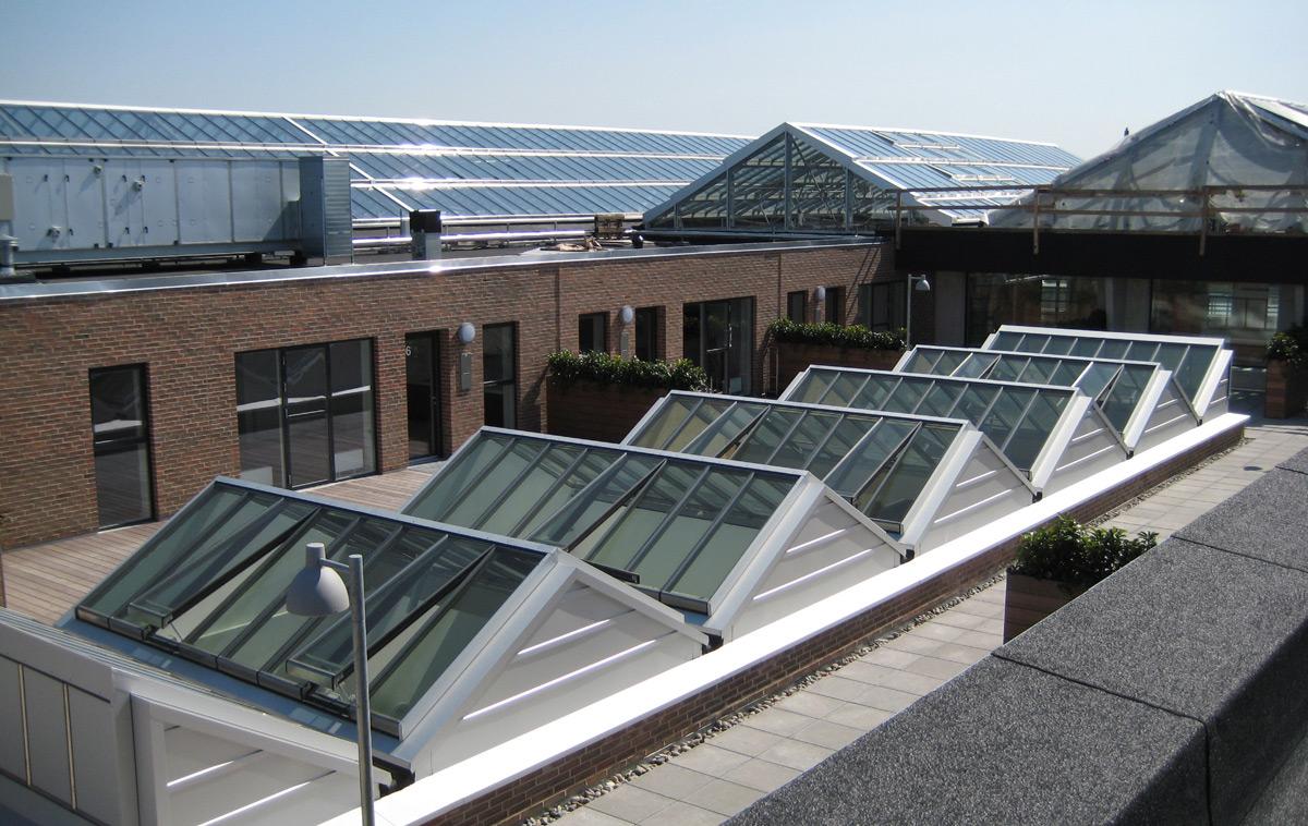 Atrium Dachverglasung auf einer Dachterrasse