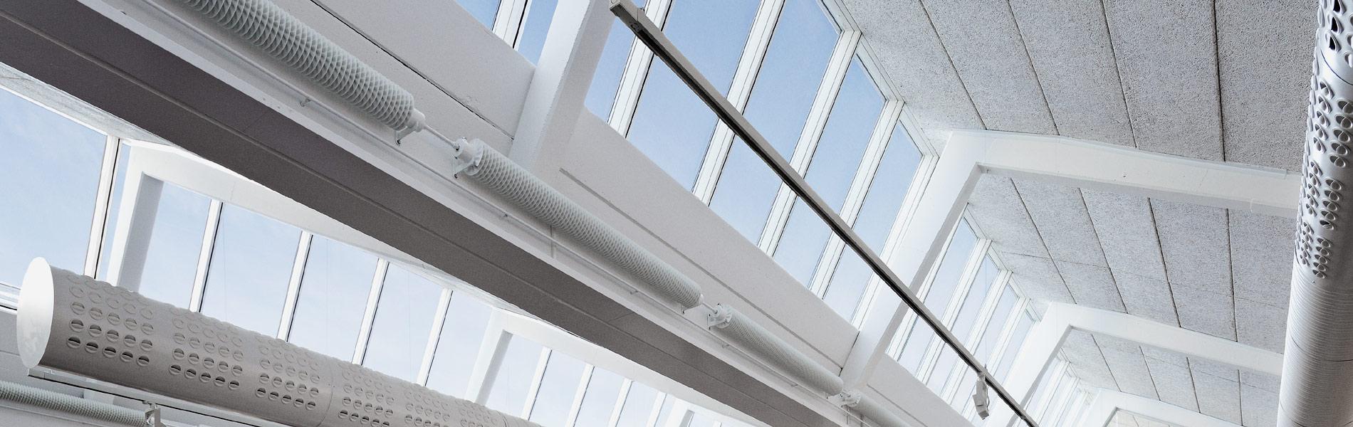 Sheddachverglasung mit VELUX Fenstern