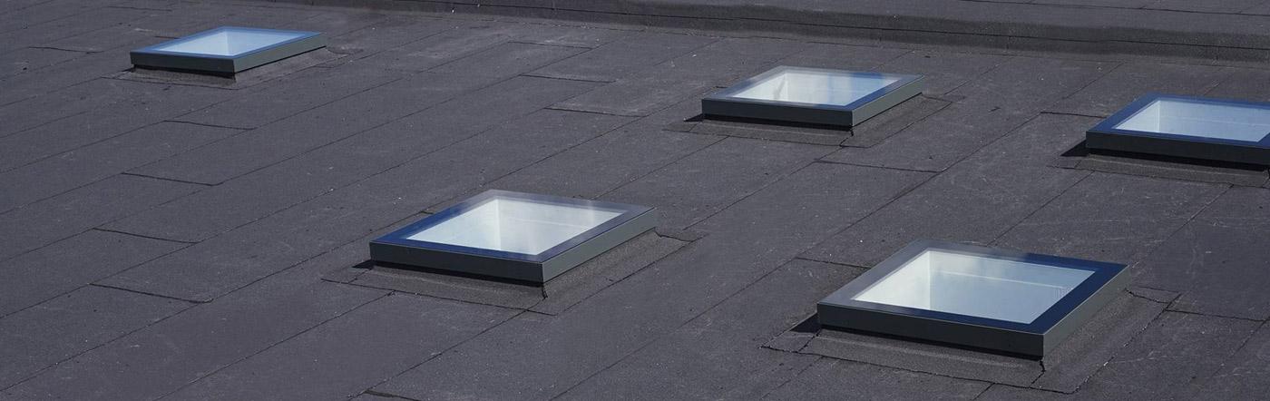 festverglastes Design-Oberlicht für flache Dächer
