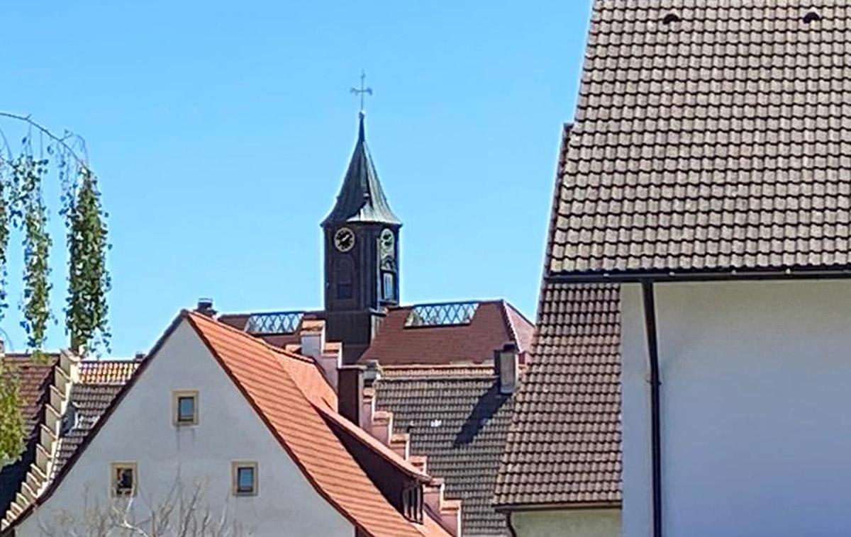 Firstverglasung im Dach des Rathauses Löffingen