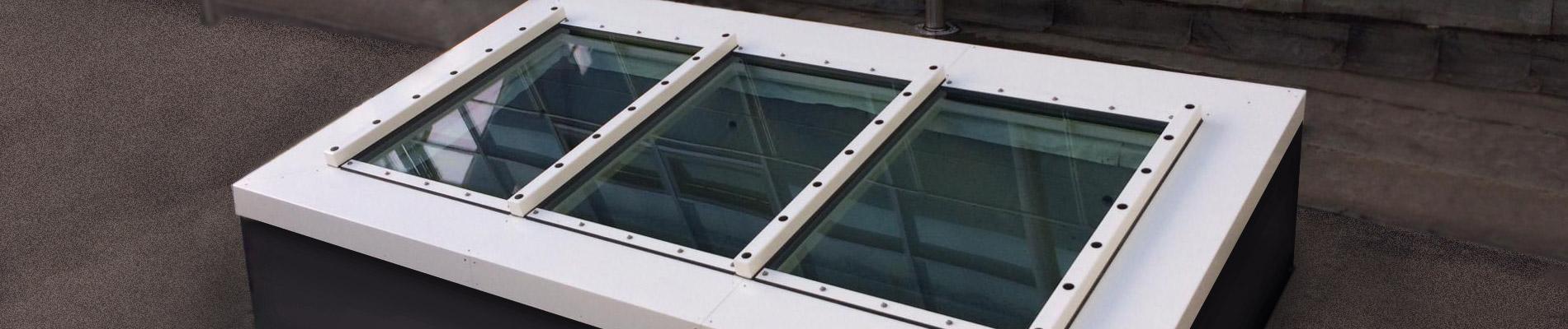 Brandschutzverglastes Pultdach