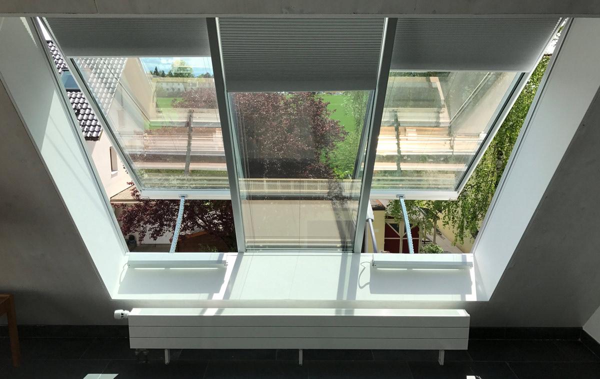 Fensterbeschattung mit Waben-Plissees