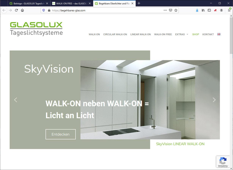 Website begehbares-glas.com - begehbare Lichtbänder LINEAR WALK-ON