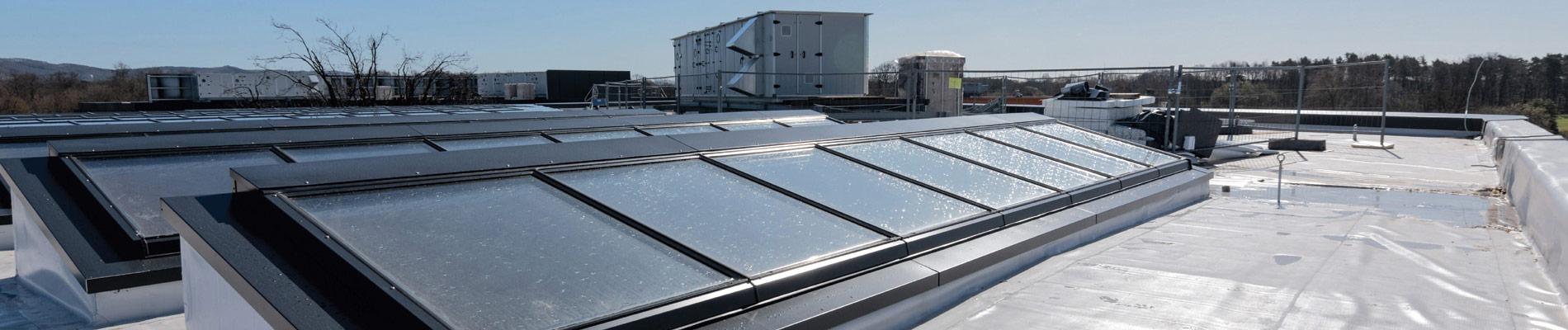 Pultdach-Verglasungen: Ideal für Flachdächer bei Firmengebäuden und Hallen